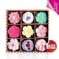 9 Lip Gloss Gift Set colorful pattern frozen moisturizing lip balm dilute the lip exports