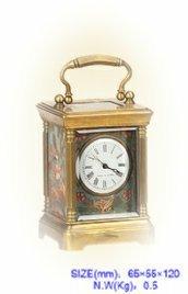 Small leather clock antique mechanical clocks fashion furniture decoration