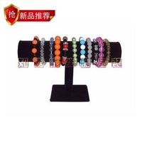 Black velvet single tier watches bracelet bracelet holder display rack jewelry holder