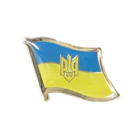 Promotion Ukraine Tri  flag  pin for holiday gifts or collection -(200pcs/lot)