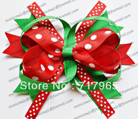 Christmas Gift Toddler Girl Hair Bow  Ribbon Bow With Clip For Baby Kids Hair Accessories