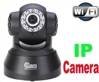 Promotion!!! Wireless WIFI IP Camera IR LED 2-Way Audio Nightvision CCTV camera (free shipping China air mail to send)