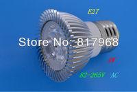 4W E27 LED Spot light led lamp 85-265V AC Warm White /White /green /red bulb Lamp