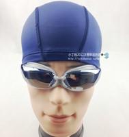 Solid color swimming cap new type male Women cloth cap elastic waterproof swimming cap
