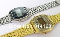 Free shipping 10pcs/lot F-91W watches f91 fashion -thin LED change F-91w photoelectron watches F 91 W sport watch