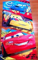 40pcs/lot! Fashion Cars Children Bath Towel 100% Cotton Beach Towel for Kids (120cm*60cm ) G2781 Free Shipping