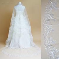 Lace large laciness ultra long bridal wedding veil