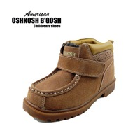 free shipping 2013 Oshkosh 2012 big cotton boots vintage cowhide snow boots casual genuine leather children shoes 609