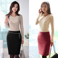 2013 autumn and winter saias hiigh waisted skirts woolen skirt all-match slim hip skirt bust skirt OL outfit skirt step
