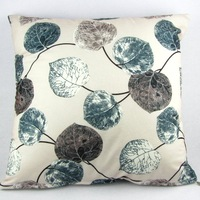 "Multi-color Leaves Throw Pillow Case Sofa Decor Cushion Cover PI16 20"" Square"
