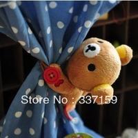 free shipping stuffed animal Bear Rilakkuma plush curtain clip curtain buckle curtain strap  for  wedding gifts for girls gifts