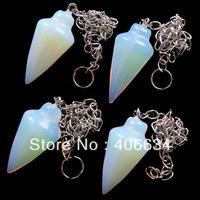 (Min.order 10$ mix) Free shipping (4pieces/lot)  Opal Opalite pendulum Pendant Bead R0007789