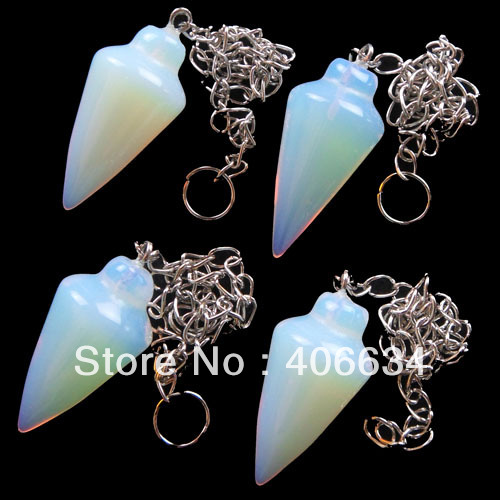 (Min.order 10$ mix) Free shipping (4pieces/lot) Opal Opalite pendulum Pendant Bead R0007