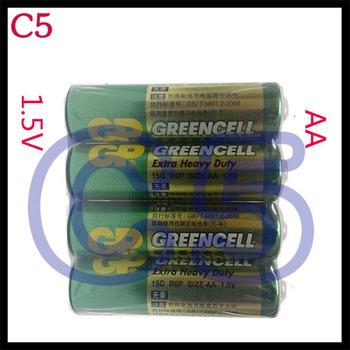 GREENCELL AA Battery 15G R6P 1.5V 3500mAh Batteries Free Shipping; 4Pcs/Set