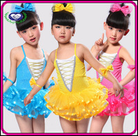 free shipping 5pcs/lot  hot selling China manufacturer newest  beautiful dancing costumes kids girls clothes 2013 summer