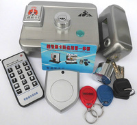 Free shipping Stainless steel double slider one piece lock one piece lock card lock