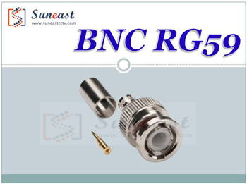 Freeshipping BNC Male Crimp Plug for RG59 Coaxial Cable, RG59 BNC Connector 3-piece Crimp Connector Plugs RG59 300pcs NewArrival