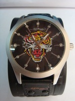 2014 New Hot Sale Ed Hardy Business Casual Men Quartz Watch Leather-like, Fashion Dress Watches, Luxury Men Quartz Watch
