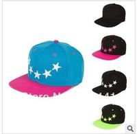 Color matching pentagram flat hat foster a hip hop dance cap bboy baseball hats for men and women