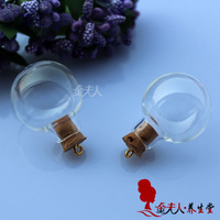 Free Shipping!!New!!!20pcs/lot 24.5MM Glass Ball With Ring Corks glass globe necklace glass globe bottle glass globe terrarium