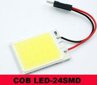 24 LED COB  Dome/Door/Box Light Panel Interior Bulb+T10 Adapter white 12V