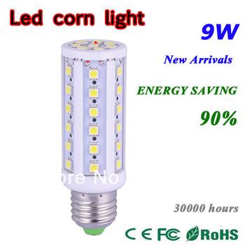 5X High power 44 LED E27 E14 5050 9W Corn Bulb Light Maize 360 angle Lamp LED Lighting Warm White Cool White Free shipping MT-LD
