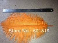 "wholesale 12-14"" Orange Ostrich Feather Plume FREE SHIPPING usefor party weddind centerpiece decoration"