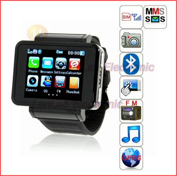 "Best Selling1.55"" TFT Screen GSM  K1 Watch Phone Quad Band GSM Bluetooth FM MP3 MP4 Camera Compass Flashlight Wrist Telephone"