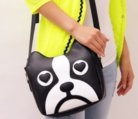 High Quality 2013 Newest  Korea Cute dog Design women PU handbag Fashion shoulder bag Lady Summer essential