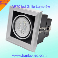 AR70 led 5w 450lm warm white/white  color led Grille Lamp free  shipping