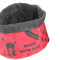 Pet Dog Cat Collapsible Foldable Travel Camping Food Water Feeder Bowl Dish K5BO