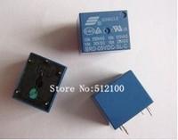 Free Shipping 50PCS  SONGEL relay 5v T73 SRD-5VDC-SL-C 5PIN 10A