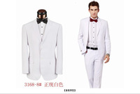 Brand White Tuxedos Wedding Suits For Men Slim Fit With Pants  XS-4XL Free Shipping