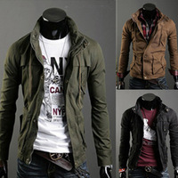 Free shipping!2013 autumn and winter man fashion casual slim fit long sleeve jacket coat for men,0137