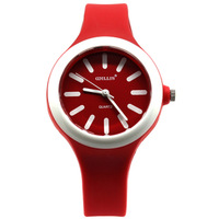 Willis fashion jelly candy color table resin watch cartoon women's watch red