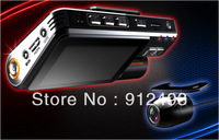 3.0inch LCD screen HD 720P DVR Two camera Separate HD DVR with G-sensor Car DVR  Vehicle DVR