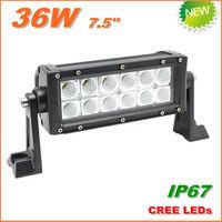 Free Shipping New 36W CREE LED Work Light  Bar 12V 24V IP67 Flood Spot beam For 4WD 4x4 Off road Light Bars TRUCK BOAT TRAIN BUS