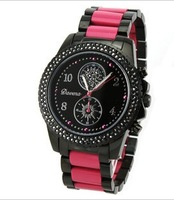 Davena watch fashion colorful pink black sports ladies watch resin fashion table 60024