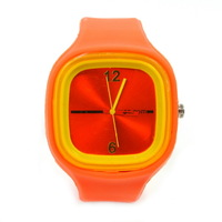 Fashion candy color resin silica gel watches watch jelly watches girls orange
