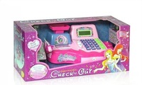 Free shipping Little princess supermarket cash register cash desk toy