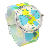 Colorful child watch waterproof student watch resin scrub jelly table child table