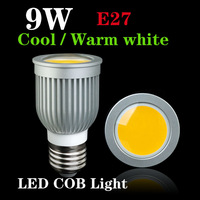 Energy saving 9W COB LED Ceiling light/down light E27 Cool/Warm White 550-650LM COB Spotlights LED bulbs