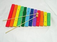 Free shipping Wooden toys multicolour xylophone