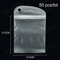 hk free shipping 100pc/tvc wholesale clear Zip-lock Plastic Waterproof Case Package Bag, Size: 12.5 x 13.5cm