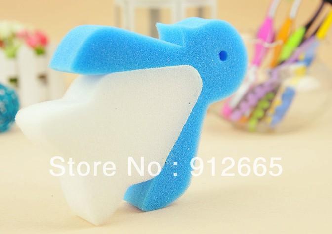 Penguin design home cleaning pad kitchenware dish washing scrubber bathing sponge,30pcs/lot,free shipping(China (Mainland))