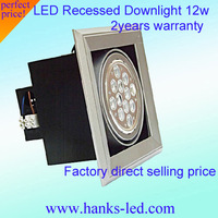 free shipping hot sales AC85V-265V AR111 led grille lamp 12w AR111led down light led spot lamp EPISTAR LEDS CE ROHS