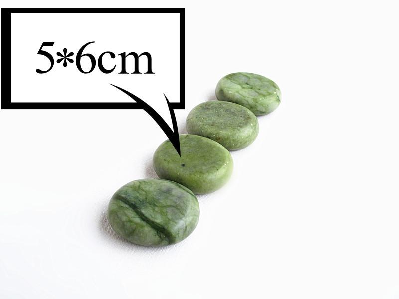 wholesale 8 pcs/lot Hot Stone Therapy Power Stone Rock stone massage body stone/glaze jade small size 5*6cm(China (Mainland))