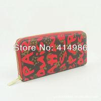 HOT  Free shipping 2014 new arrival hot classics ladies' wallet women long designer wallets purse wholesale 131154