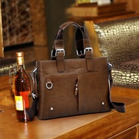 2013 new fahion man bag male briefcase handbag one shoulder bag High quality business bag 4 sizes for you free shipping