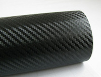 Free shipping 3D 30cm x127cm Carbon Fiber sticker Vinyl Sheet BLACK For All Car car stickers full body